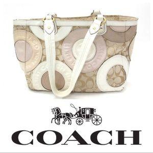 Coach Patchwork Zippered Tote Bag / Purse